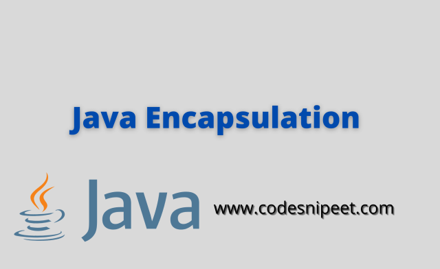 Java Encapsulation