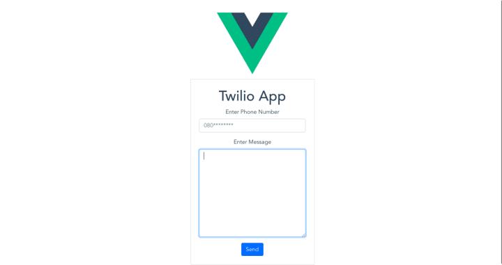 text messaging app with Vuejs