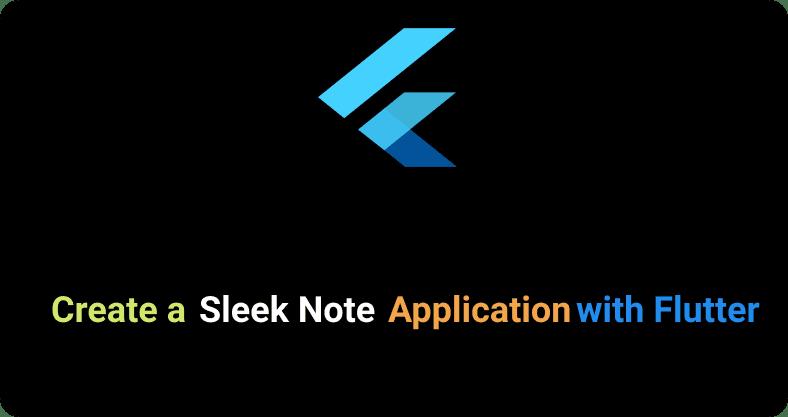 Flutter note app