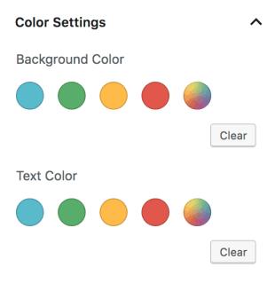 Thiết lập màu sắc tùy chọn
