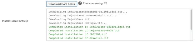 Tải core font trong GravityPDF