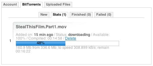 caching torrent to download
