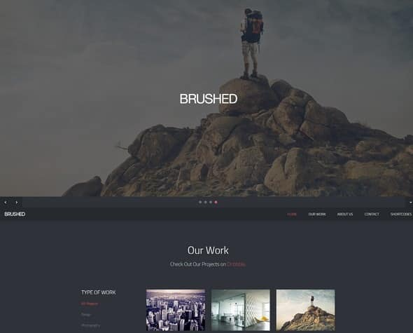 Brushed-Responsive template
