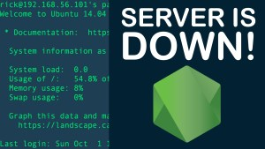 SERVER IS DOWN! Node.js