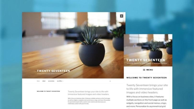 Twenty Seventeen Theme Photo - WordPress Features