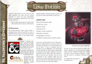 Giveaways - Love Potion