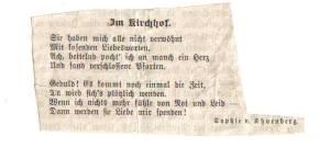 Scan ImKirchhof Gedicht