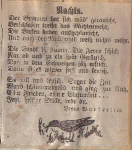 scan Gedicht Nachts