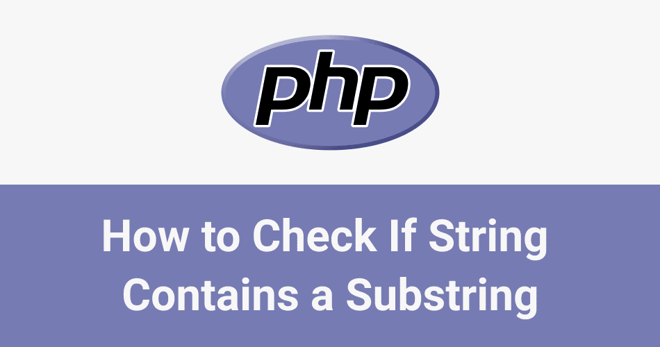 How to check if a string contains a substring in php