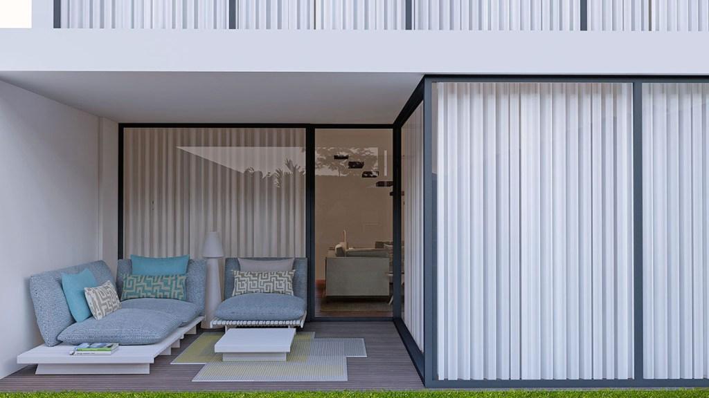 Projeto Design de Interiores e exterior, CódigoDesign, terraço lazer sofás. Guimarães Portugal