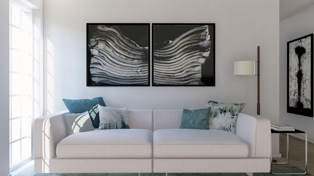 Projeto design de Interiores sala de estar, sofá CodigoDesign