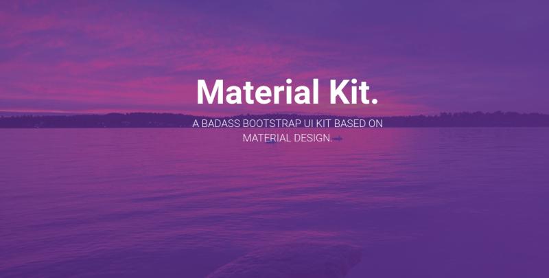 Materil Kit, diseño de Material Design con sintaxis de Bootstrap