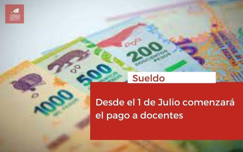 <h6>Sueldo</h6><h1>Desde el 1 de Julio comenzará el pago a docentes</h1>