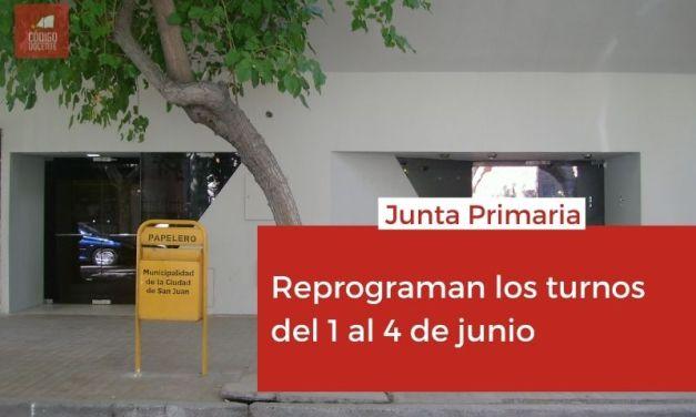 Junta Primaria reprogramó los turnos de inscripción del 1 al 4 de junio