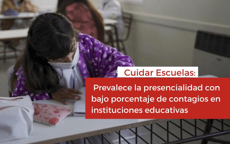<h6>Cuidar Escuelas:</h6><h1>Prevalece la presencialidad con bajo porcentaje de contagios en instituciones educativas</h1>