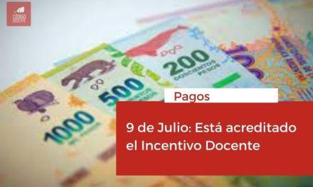 <h6>Pagos</h6><h1>9 de Julio: Está acreditado el Incentivo Docente</h1>
