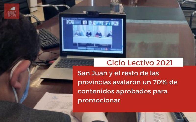 San Juan y el resto de las provincias avalaron un 70% de contenidos aprobados para promocionar