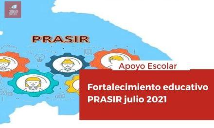 Fortalecimiento educativo PRASIR julio 2021