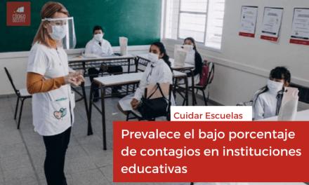 Cuidar Escuelas: prevalece el bajo porcentaje de contagios en instituciones educativas