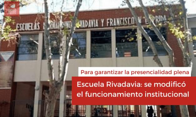 Escuela Rivadavia: se modificó el funcionamiento institucional para garantizar la presencialidad plena