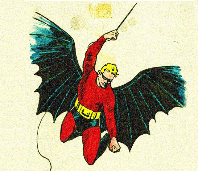 El Bat-Man original de Bob Kane