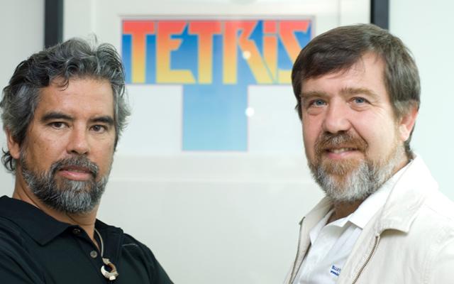 Henk Rogers y Alexey Pajitnov