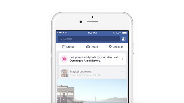 Cuando estés cerca de un lugar determinado, una notificación en tu news feed te hará saber algunos detalles de él
