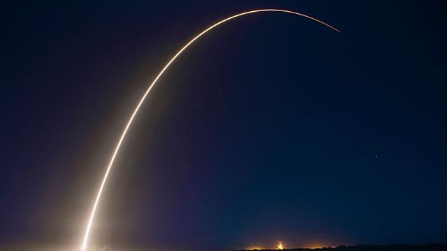 Una de las impactantes imágenes de SpaceX