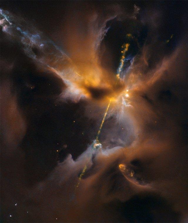 ESA/Hubble & NASA, D. Padgett (GSFC), T. Megeath (University of Toledo), and B. Reipurth (University of Hawaii)