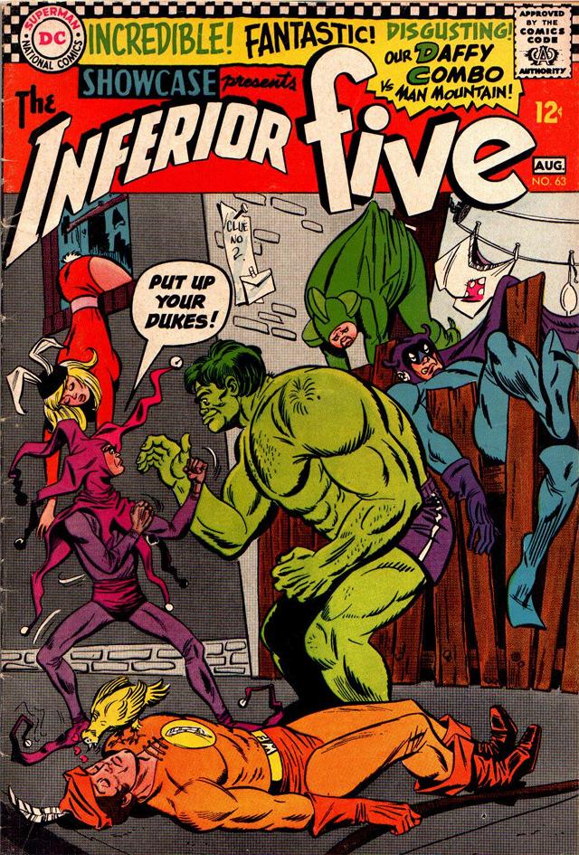 Merryman contra el Hombre Montaña, una parodia de Hulk