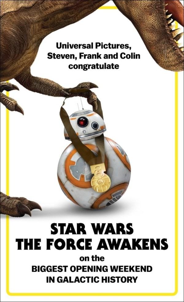 premio star wars universal pictures