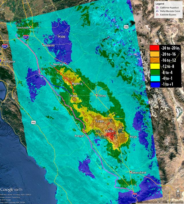 Esta es la razón por la que California se está hundiendo