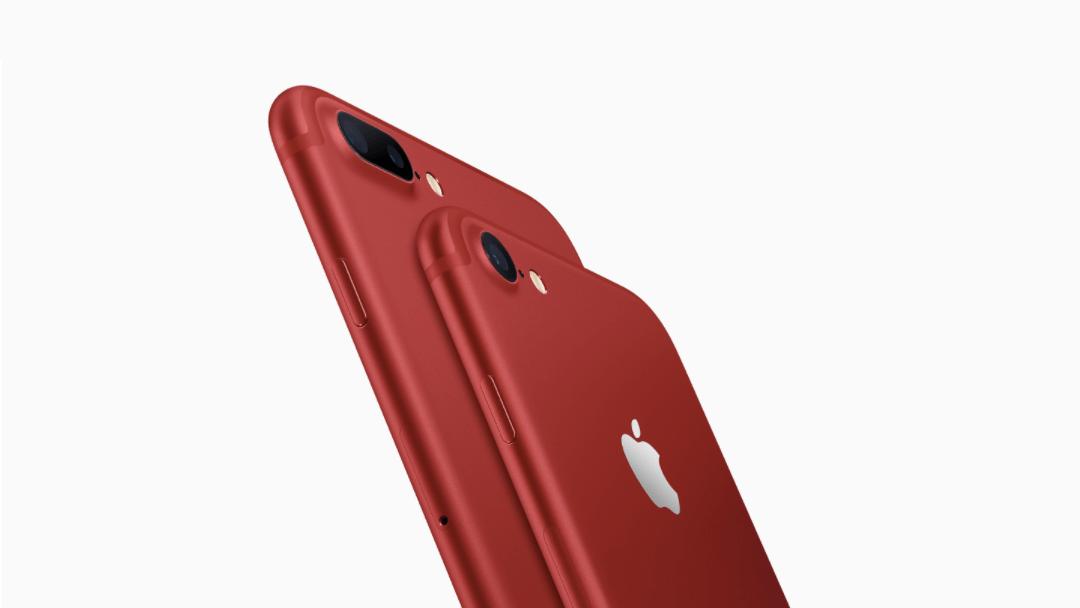 Apple lanza un nuevo iPhone 7 rojo contra el VIH