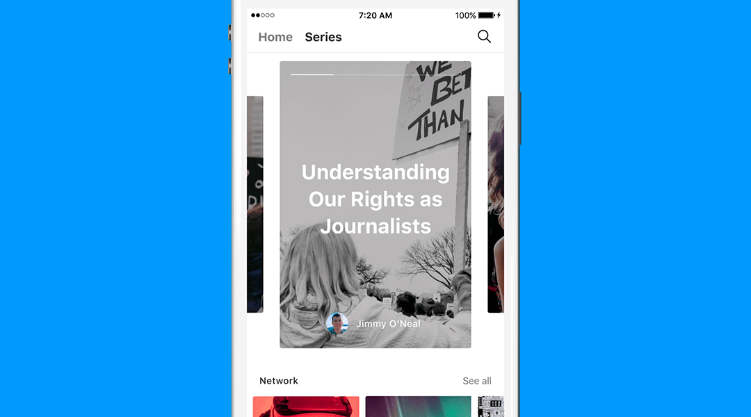 Medium Series:la función que se parece mucho a Snapchat