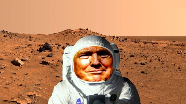 Donald Trump aprueba la exploración a Marte