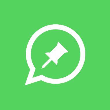 El logo de WhatsApp con un pin en medio