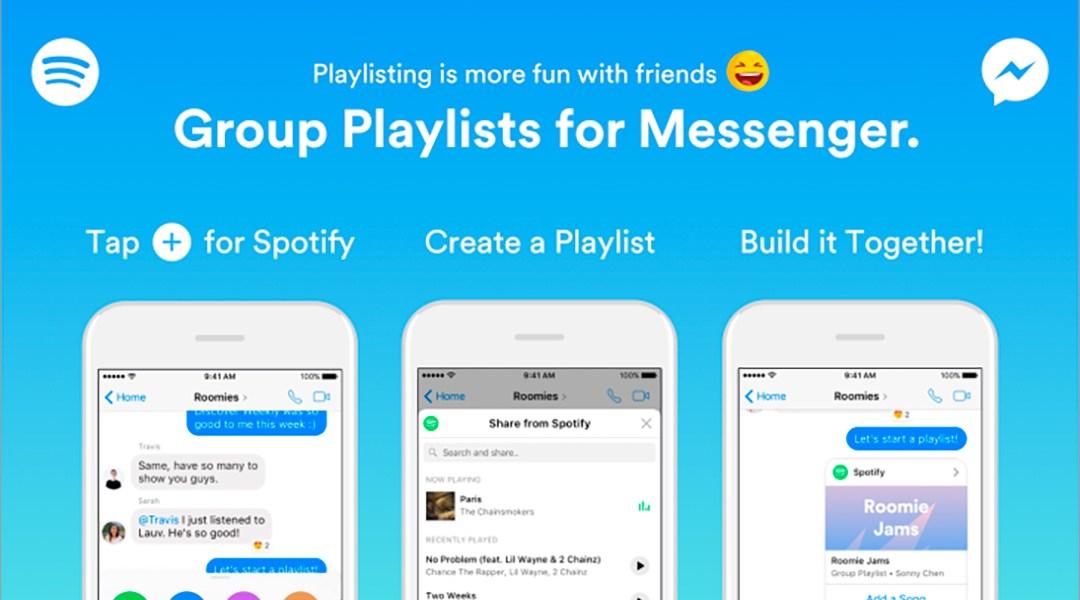 Ahora puedes crear playlist colaborativas de Spotify en Facebook Messenger