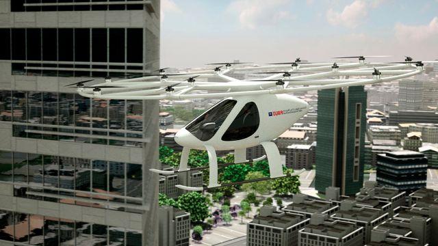 El Volocopter 2X sººerá uno de los vehículos que volará en Dubai
