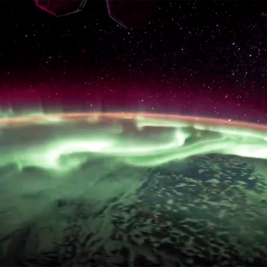 Un astronauta grabó una aurora boreal desde el espacio