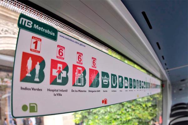 Los signos de las estaciones de la nueva línea del MB