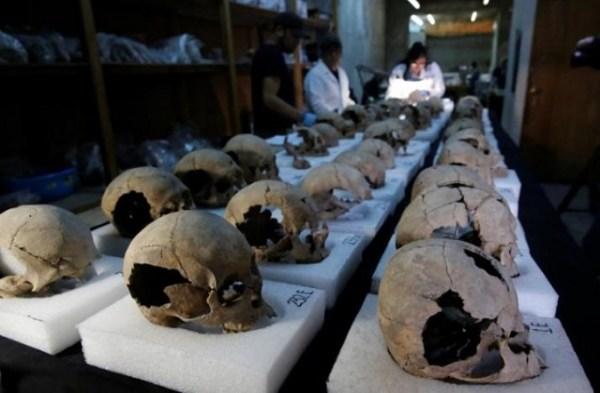 Entre los cráneos descubiertos se encontraban los de mujeres y los niños