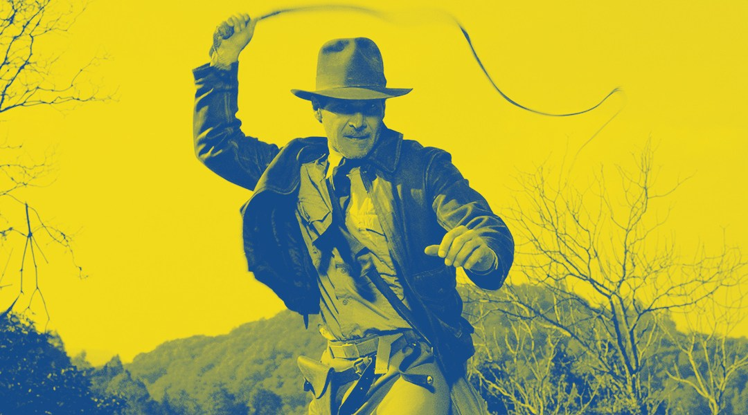 Harrison Ford en el papel de Indiana Jones