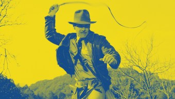 Harrison Ford en el papel de Indiana Jones