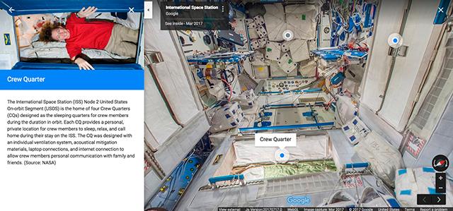 Google Street View arribó a la Estación Espacial Internacional