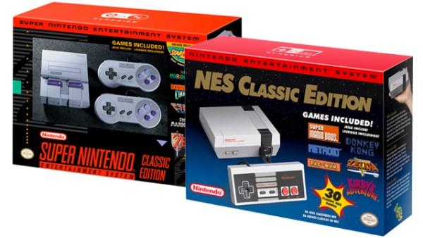 Cajas de SNES Mini y NES Mini.