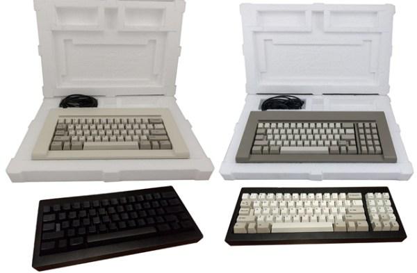 Diferentes versiones del teclado que estará a la venta.