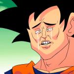 Goku llorando