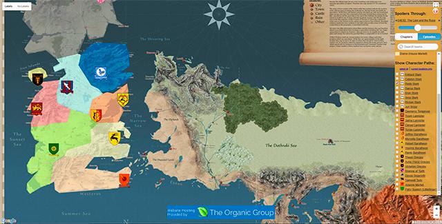 Este Mapa Interactivo Muestra El Viaje De Personajes De Game Of