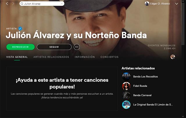 Spotify oficial de Julion alvarez