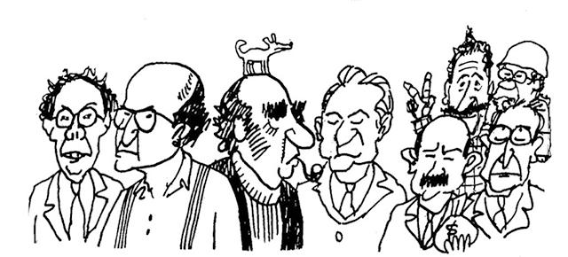 Caricaturas de presidentes mexicanos